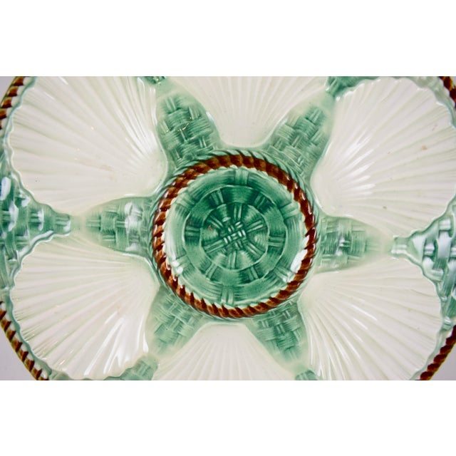 St. Clément French Basketweave & Rope Oyster Plate - Image 3 of 7