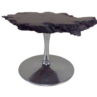 Black Walnut Burl Slab Side Table