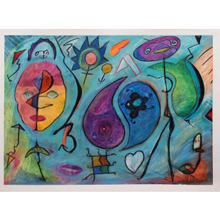 """""""Purim, The Mask"""" Limited Edition Print by Bruce Michell"""