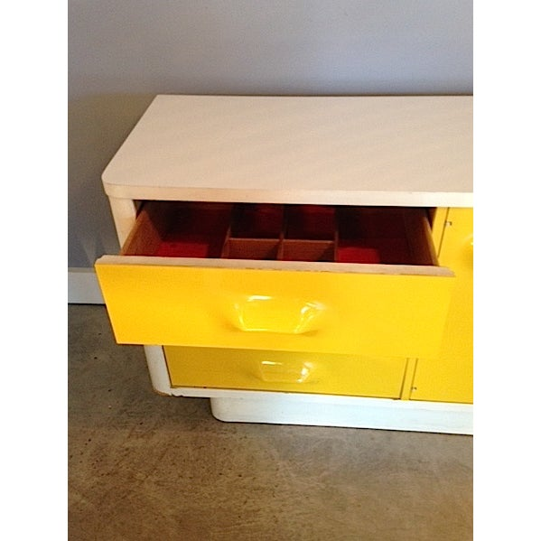 Yellow Broyhill Dresser/ Credenza - Image 6 of 11