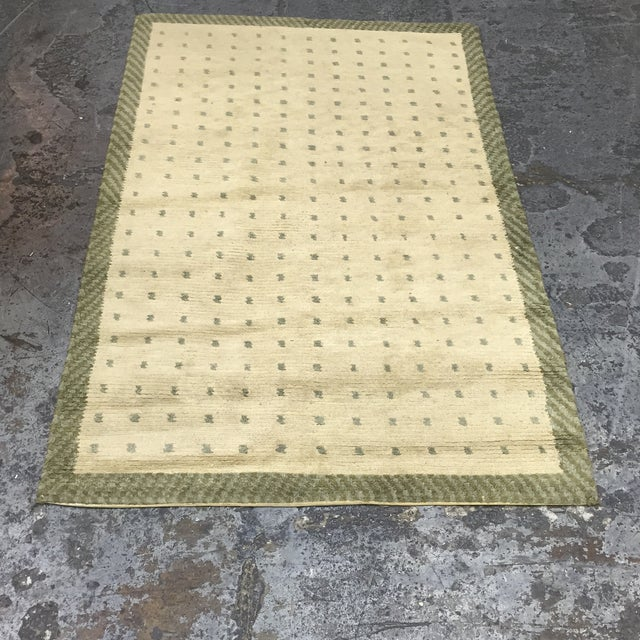 """Image of Wool Cotton Rug From Nepal - 5'6"""" X 3'7"""""""