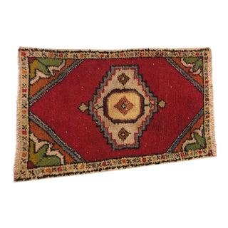 Handwoven Turkish Carpet - 1′8″ × 2′9″