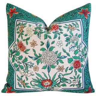 """Chic Spring Floral Blossom Feather/Down Linen Accent Pillow 20"""""""