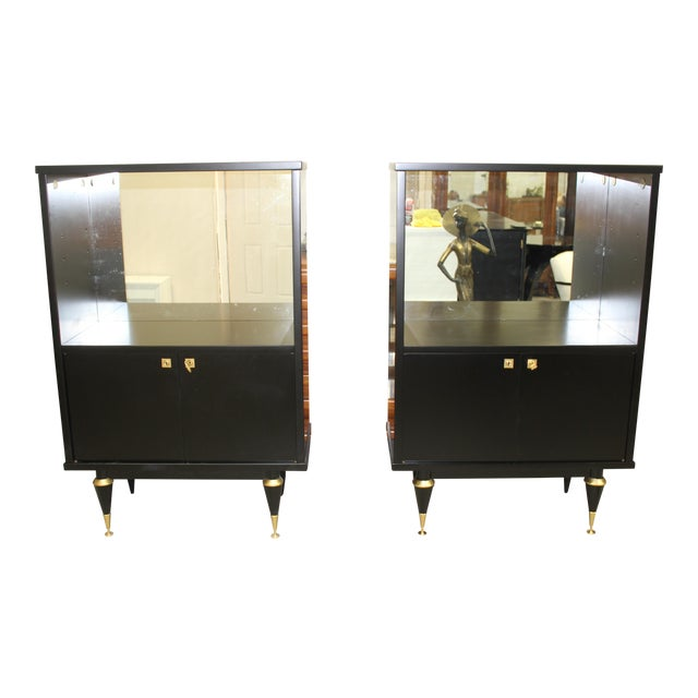 French Art Deco Sideboard Display Cabinets - A Pair Circa 1940s - Image 2 of 12