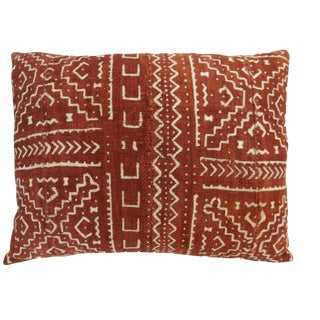 Mali Mud Cloth Bogolan Lumbar Pillow