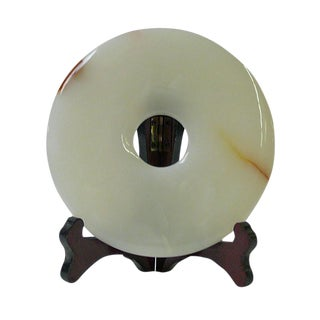 Chinese Natural Stone Feng Shui Round Display
