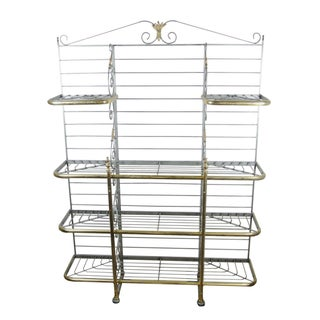 19th-Century French Wrought Iron Baker's Rack
