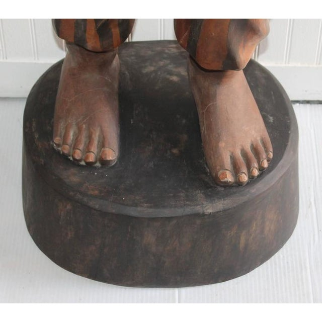 Hand-Carved and Painted 19th Century Cigar Store Figure - Image 9 of 10