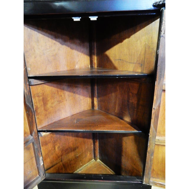 Black Lacquer Corner Armoire - Image 8 of 10
