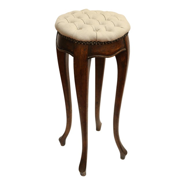 Country French Pedestal Stool - Image 1 of 4