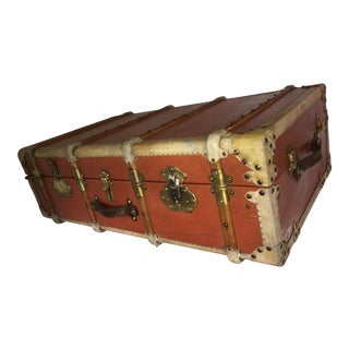Old Vellum & Brass Details English Trunk