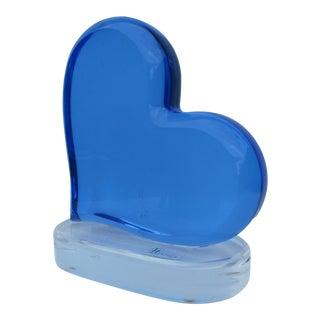 H. Studio by Shlomi Haziza Blue Heart Lucite Sculpture