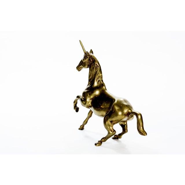 Vintage Large Brass Unicorn - Image 5 of 6