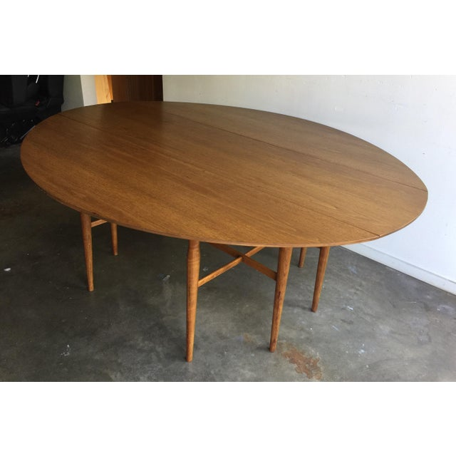Drexel MidCentury Drop Leaf Harvest Dining Table Chairish - Drexel dining table