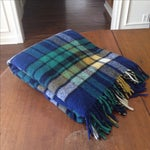 Image of Plaid Wool Tailgate/Picnic Blanket