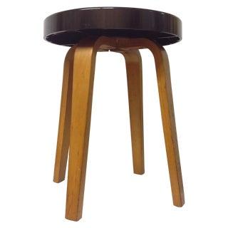Alvar Aalto for Thonet Bakelite Bentwood Stool
