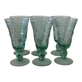 Aztec Water Goblets - Set of 8