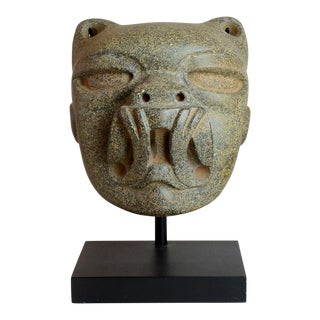 Olmec Stone Jaguar Head