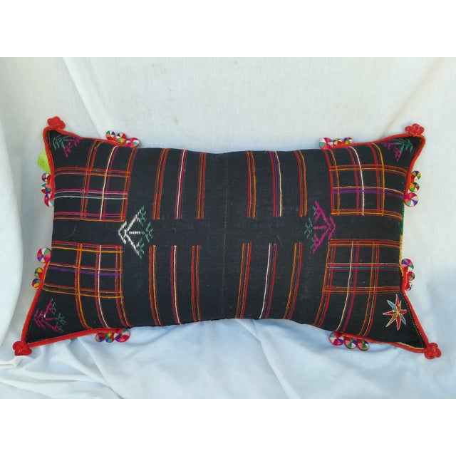 Embroidered Spiral Tassel Pillow - Image 2 of 6