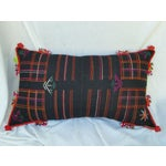 Image of Embroidered Spiral Tassel Pillow