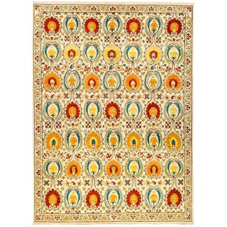 """Suzani, Hand Knotted Area Rug - 9' 0"""" x 12' 1"""""""