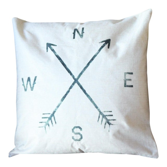 Compass Pillow Cover - Image 1 of 4