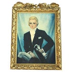 Image of English Equestrian Portrait Painting
