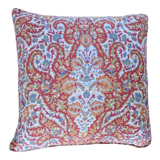 Ralph Lauren Colorful Floral Paisley Throw Toss Square Feather Pillow