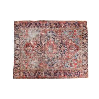 """Distressed Antique Hertz Carpet - 9'1"""" X 11'6"""""""
