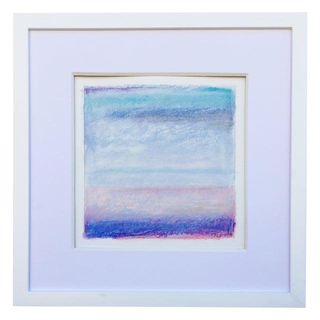 """Santa Monica Bay, Blue"" Pastel - Image 1 of 3"