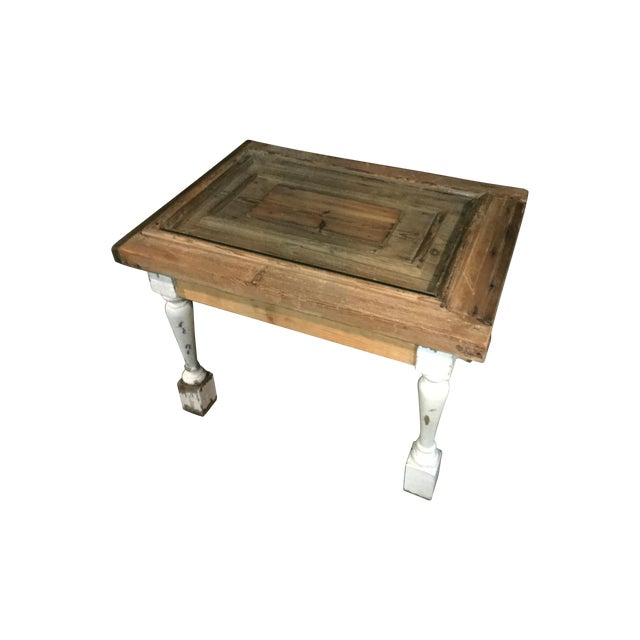 Reclaimed 18th century door coffee table chairish for Table th width