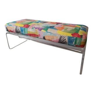 Mid-Century Modern Lucite Bench & Cushion