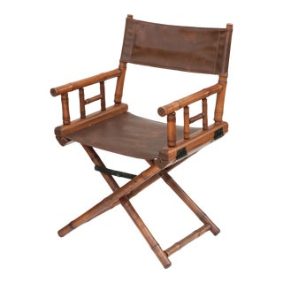 Faux Bamboo Director's Chair