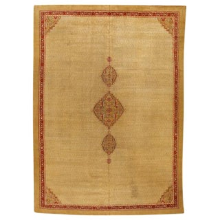 Antique 19th Century Indian Agra Carpet