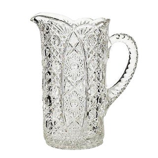 Pressed Glass Beverage Pitcher