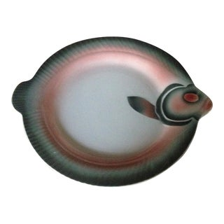 French Porcelain Fish Plate