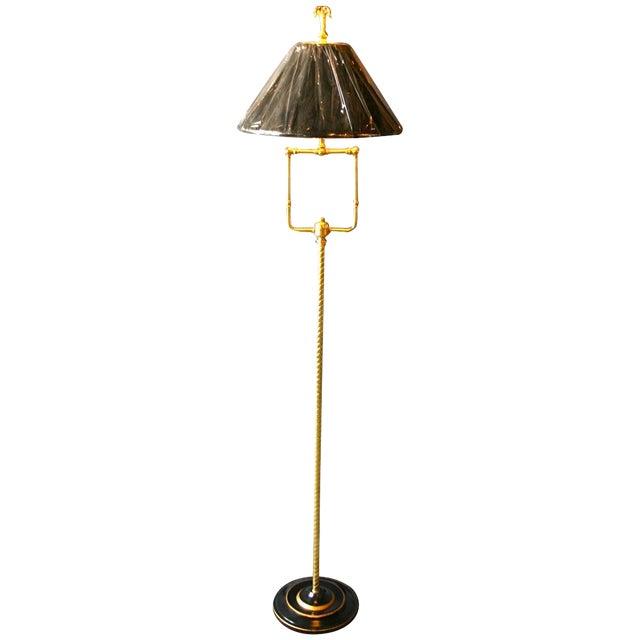 Modern Brass Floor Lamp - Image 1 of 10
