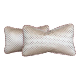 Pink Silk Pillows - A Pair