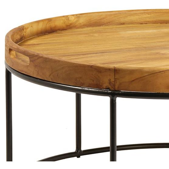 Round Wood Tray Table Chairish