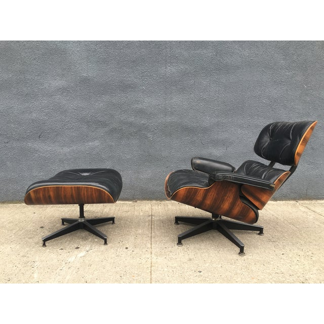 Eames Lounge Chair & Ottoman in Brazilian Rosewood - Image 2 of 10
