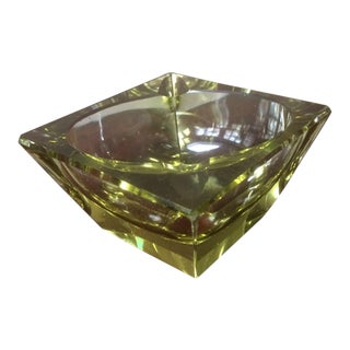 Mid-Century Italian Cut Glass Ashtray