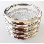 Image of Italian Silver Plate Coasters - Set of 4