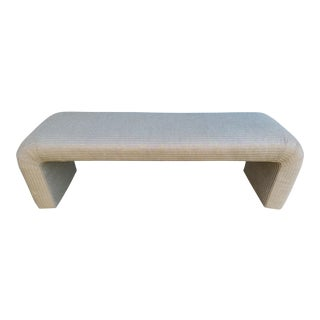 1980s Waterfall-Style Upholstered Bench