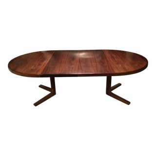 John Mortensen for Heltborg Møbler Model Hm25/55 Danish Rosewood Pedestal Dining Table