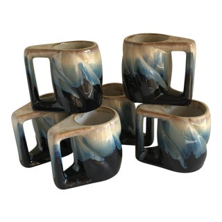 Earthy Pottery Mugs - Set of 6