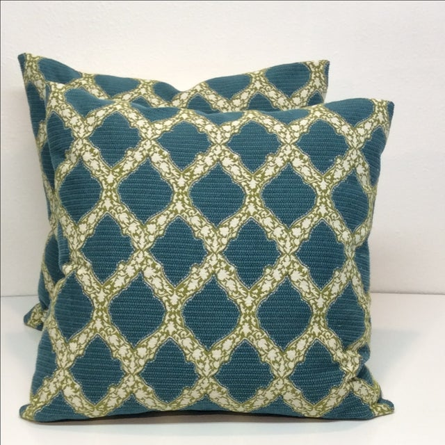Image of John Robshaw Trellis Pillows- A Pair