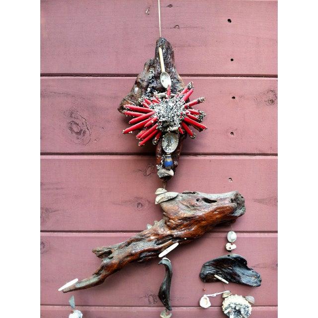 Image of Vintage Sea Shell Driftwood Mobile