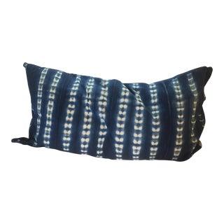 Indigo African Mud Cloth Pillow