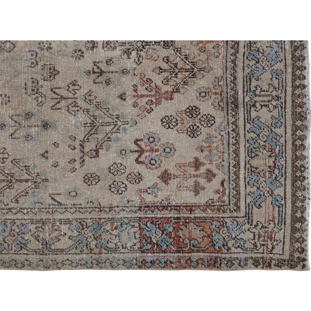 "Antique Persian Distressed Rug - 4'2"" X 6'3"" - Image 4 of 4"