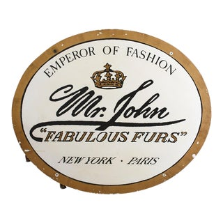 Vintage Mr. John Furrier Shop Sign